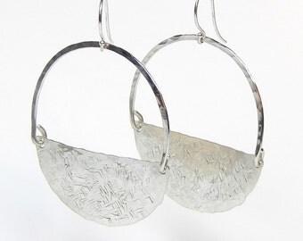Tina Sterling Silver Half-Moon Dangle Earrings