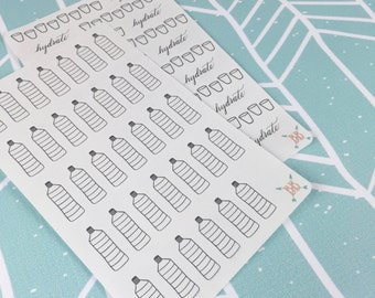 Hydration Planner Stickers