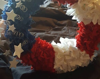 12 in. Red, white and blue wreath