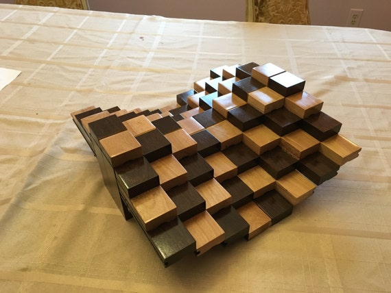Multilevel 3d handmade wooden chessboard without by greatchess - Multilevel chess ...
