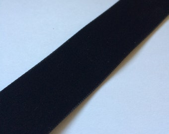 "1"" Black Velvet Ribbon Trim"