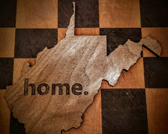 WV HOME laser cut wall hanging