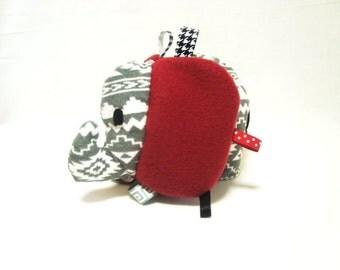 Elephant taggie toy (Roll Tide)
