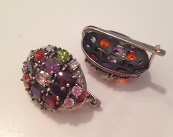 Amazing Sterling Silver and Gemstone Earrings