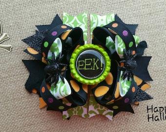 Halloween Bow, eek Halloween hair bow, Halloween hair clip