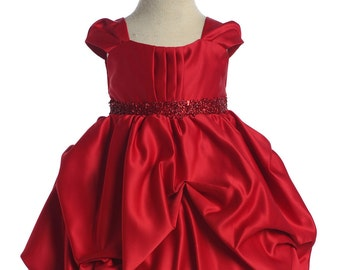 Red Bubble Dress, Baby Dress, Toddler Dress, Christmas dress,Girl Dress, Baby Girl Dress,red dress, bubble dress,flowergirl dress, photoprop
