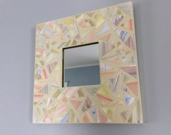 Watercolor Mosaic Mirror