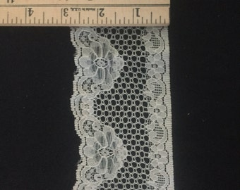 """3"""" wide white lace trim 2 yards"""