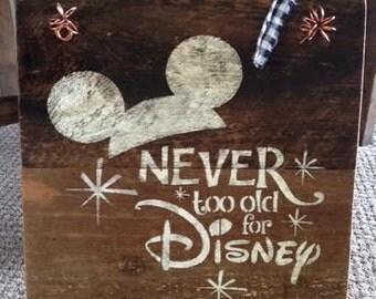 Rustic Barnwood Disney Sign