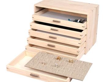 Handcrafted wood organizer