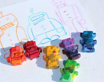 Robot Rainbow Crayons (set of 6)