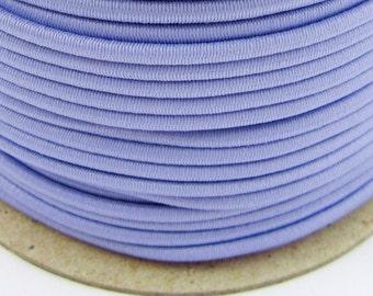 5, 10, 50 m rubber cord 3 mm Lavender