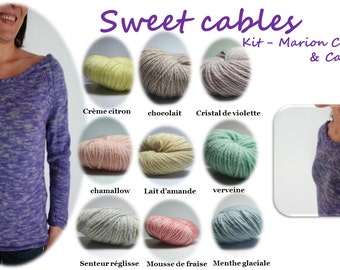 SWEET CABLES colour violet Crystal
