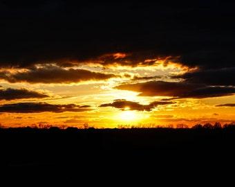 Kansas Sunset in March