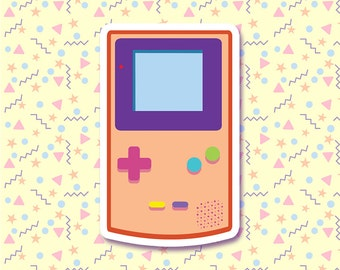 90s Nostalgia - Cute Gameboy Color Sticker