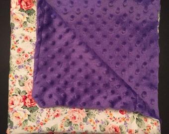 Floral Minky Blanket