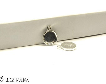 10 PCs pendant/Locket version 12mm silver