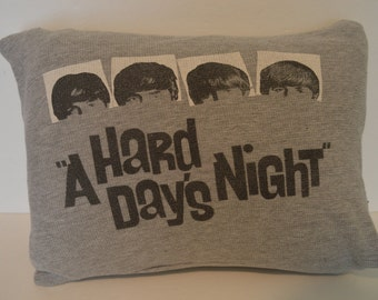 """Home Made Beatles """"A Hard Day's Night"""" Pillow"""