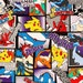 """Pocket Monster Character Fabric made in Japan / Pokemon  Pikachu Fabric 45cm by 53cm or 18"""" by 21"""""""