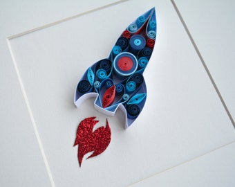 "Quilled Paper Art ""Rocket"""