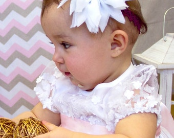 Customizable flower girl headband