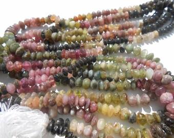 Mulit colored tourmaline beads