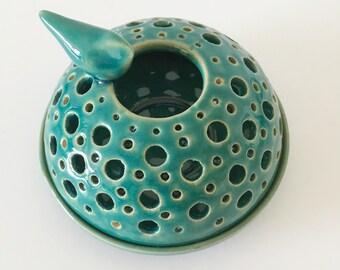 Turqouise / green candleholder