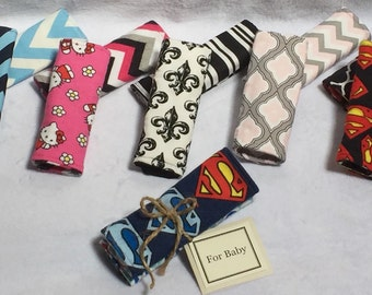 Baby Car Seat Strap Covers, Reversible, Seat Belt Strap Covers, Baby Gift