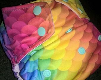 Rainbow Scales Pocket Diaper