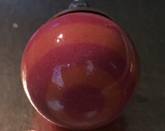 Spiral hand painted ceramic knob K-116