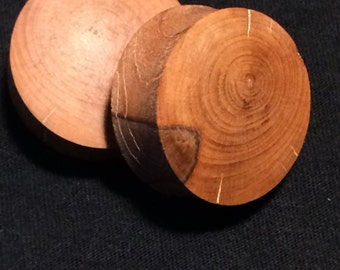 10 mm by 30mm tangerine wood ,hand made Ear plugs