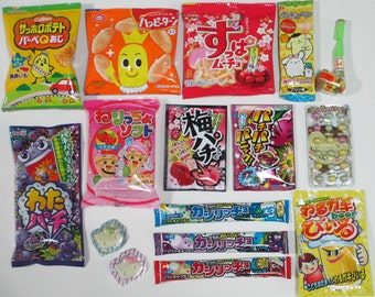 16Pcs Set Japanese Candy Snacks Sweets Okashi Dagashi Mini Packs Food Samplers