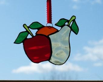 Apple, Orange and Pear Suncatcher