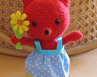 Stuffed animal Fox, Amigurumi Fox, toys for baby, handmade toys,.