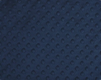 Navy Blue Cuddle Dimple Dot Minky by Shannon Fabrics - 1 yard
