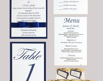 Royal Blue Wedding Invitation Set