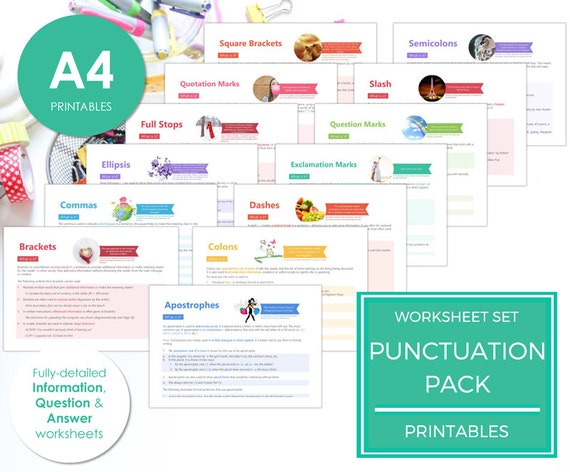 punctuation pack punctuation worksheet by lifechanginglearning. Black Bedroom Furniture Sets. Home Design Ideas