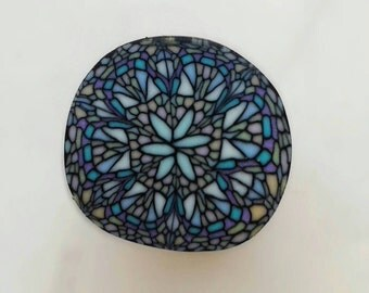 Polymer clay cane Stained glass effect