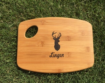 Custom Personalized Bamboo Wood Burned Cutting Board