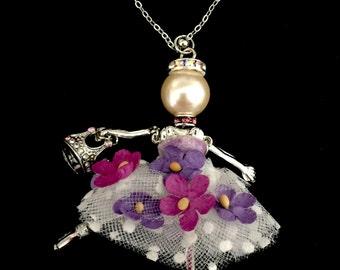 French doll pendant, Ellie's Belle: Kaitlin