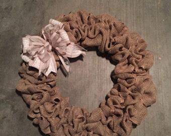 Neutral Burlap Wreath