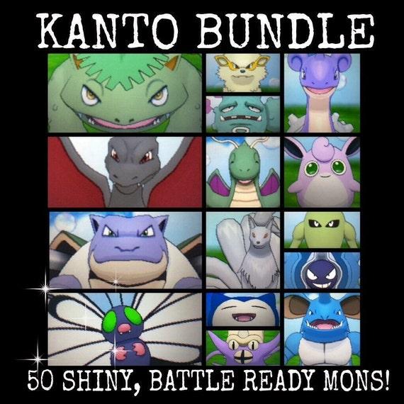 50 Pokemon of Kanto Bundle Shiny 6IV Battle Ready by ...