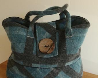 Handbag with rough diamond.