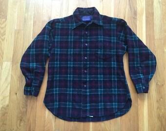 Vintage Pendleton Flannel Size Large(small) Wool portland oregon PDX