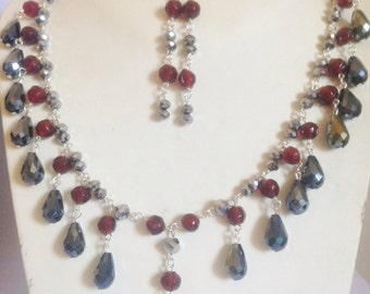 Gray and Red crystals sets
