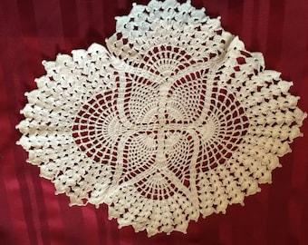 White Crochet Doily, Table top