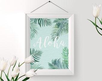 Printable Aloha Print - Digital Art - Instant Download