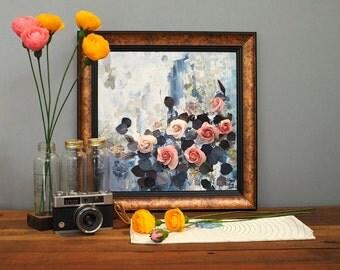 3D Flower Clay Paintings - Elegant Rose