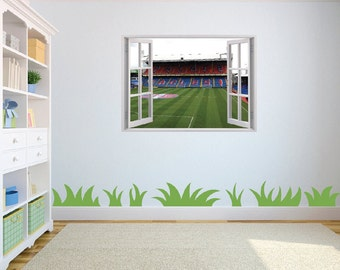 Selhurst Park Stadium Crystal Palace Football Club 3d Effect Wall Sticker for kids bedroom/playroom w63cm x h45cm