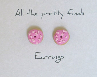 Little donut earrings
